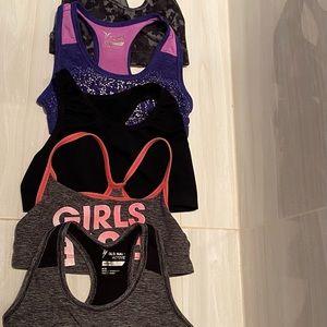 Old Navy girls sports bra.Size:6-8 various designs